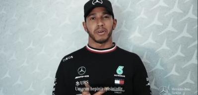 Lewis Hamilton'dan Türkçe mesaj!