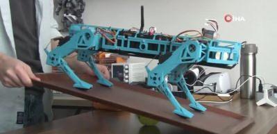 """Lise öğrencisi 6 ayda geliştirdiği """"robot köpek"""" ile başarıya koşuyor"""