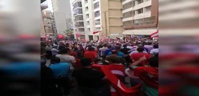 Tüyleri diken diken eden görüntüler... Lübnan'da Erdoğan sesleri