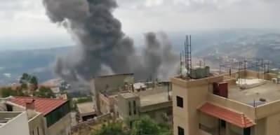 Lübnan'daki bir köy evinde büyük patlama
