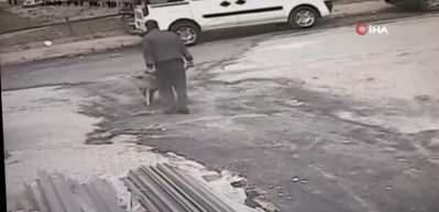 Manisa'daki korkunç görüntü kamerada! 3 yaşındaki çocuğa böyle çarptı