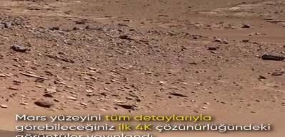 Mars'tan ilk kez 4k kalitesinde muazzam görüntüler geldi