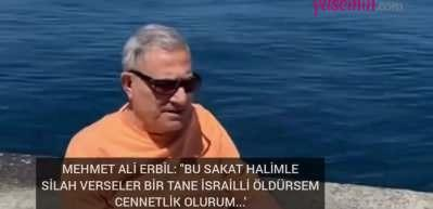 Mehmet Ali Erbil'den Filistin'e destek mesajı: Sessiz kalmayın