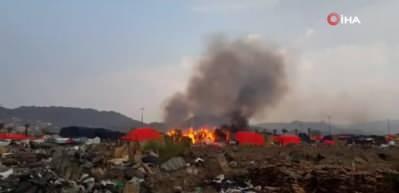 Mekke'de korkutan yangın