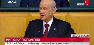 MHP lideri Bahçeli: Milletin karşısına çıkma cesaretiniz yok, nasıl görüşüyorsunuz!