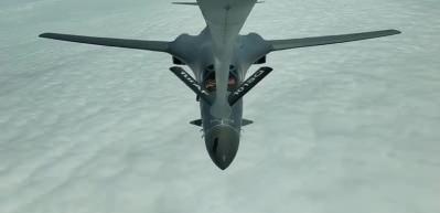 MSB: ABD'ye ait 2 adet B-1 uçağına, tanker uçakları ile havada yakıt ikmali yapıldı