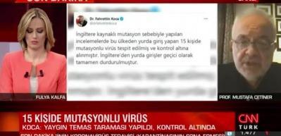 Mutasyonlu virüs Türkiye'de...  Prof. Mustafa Çetiner'den canlı yayında önemli açıklama!