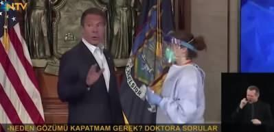 New York Valisi, basın toplantısında koronavirüs testi yaptırdı