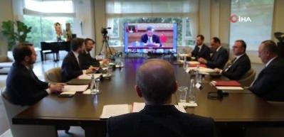 Cumhurbaşkanı Erdoğan G20 zirvesine video konferans ile katıldı