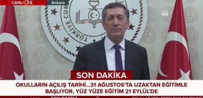 Okullar için karar! Bakan Ziya Selçuk'tan son dakika açıklaması!