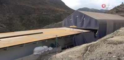 Osman Gazi Köprüsü tekniğiyle Bitlis'te viyadük yapılıyor