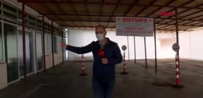 Pandemi hastanesinde Covid9 şüphelileri bu kapıdan alınıyor