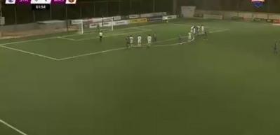 Penaltı sırasında ışıklar gitti!