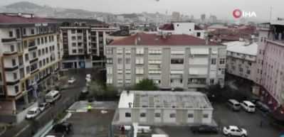 Pendik Devlet Hastanesi'ne ön tanı bölümü inşaatı havadan görüntülendi