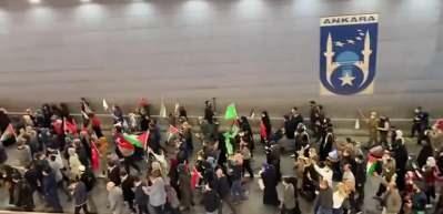 İsrail'in Mescid-i Aksa'ya yönelik müdahalesine Ankara'da protesto yürüyüşü