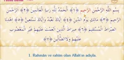 Fatiha suresinin Arapça okunuşu! Fatiha Suresinin meali
