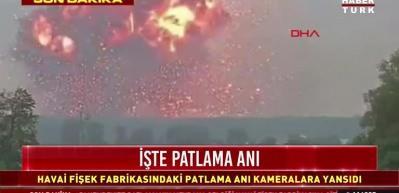 Sakarya'daki patlama anı görüntülerinin Ukrayna'daki görüntüler olduğu ortaya çıktı