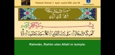 Tekasür suresinin Arapça okunuşu ve meali! İkindiden sonra okursanız...