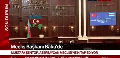 Şentop'tan Azerbaycan Meclisi'nde açıklama: Minsk'in beyin ölümü gerçekleşti
