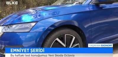Skoda yeni Octavia modeli ile şov yapmış