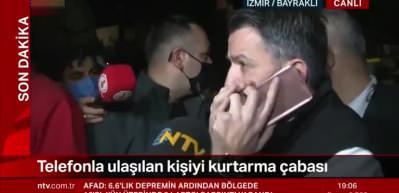 Son dakika: Enkaz altındaki vatandaşa bakan telefonla ulaştı