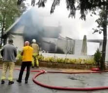 Şile'de cafe yangını! Korku dolu anlar