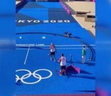 Bakan Kasapoğlu'nun olimpiyat sevinci kameraya yansıdı