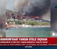 Bodrum'daki orman yangını lüks otele sıçradı: İşte sıcak görüntüler!