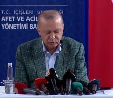 Erdoğan afetzedelere yapılacak yardımları açıklayıp sert konuştu: Yakalarına yapışacağız!