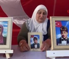 Evlat nöbetindeki anne HDP'ye ateş püskürdü