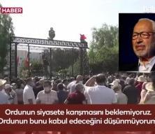 Tunus Meclis Başkanı Gannuşi, darbenin arkasındaki ülkeyi açık açık ifade etti
