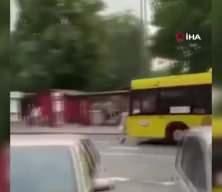 Otobüs şoförü kavga eden gençleri ezdi