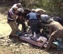 Ayağı kırılan gebe ineği 3 kilometrelik yol açarak kurtardılar