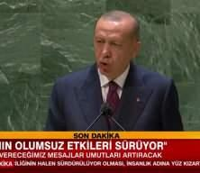 Başkan Erdoğan BM Genel Kurulu'nda konuştu