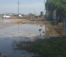 Sancaktepe'de İSKİ'ye ait ana su borusu patladı