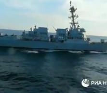 Rusya ve Çin ortak tatbikatında gergin anlar: ABD savaş gemisine şok müdahale