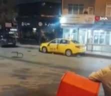 Eski çalıştığı durağın taksisini parçaladı! O anlar...