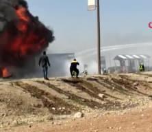 El Bab'da akaryakıt deposunda patlama: 2 yaralı