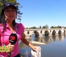 Meriç Nehri'nin üzerinde güneş gibi doğan tarihi köprü