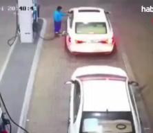 Pompacının zor anları kamerada! Araç bir anda alev topuna döndü