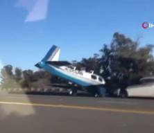 ABD'de ilginç kaza! Küçük uçak araca böyle çarptı