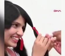 Dünyanın en uzun saçlı genci Patel 12 yıl sonra ilk kez saçını kestirdi