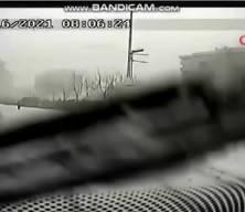 İstanbul'da minibüstekilerin dehşeti yaşadığı feci kaza kamerada