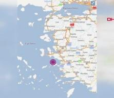 İzmir'in Seferhisar ilçesi açıklarında 4.5 büyüklüğünde deprem