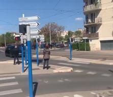 Macron'a Montpellier'da soğuk duş