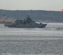 Rus savaş gemisi 'Admiral Grigorovich' Çanakkale Boğazı'ndan geçti