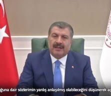 Sağlık Bakanı Koca'dan salgınla mücadeleyi siyaset malzemesi yapanlara tepki