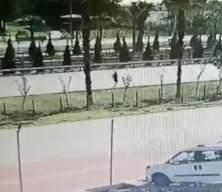 Sürücüyü gözyaşlarına boğan ölümlü kaza güvenlik kamerasında