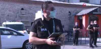Taksim'de turistlere yönelik korona virüs denetimi