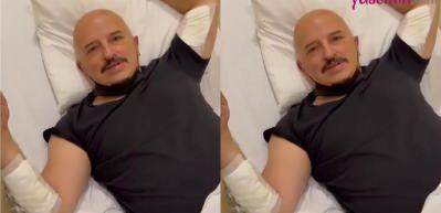 Talihsiz kaza! Yavuz Seçkin hastanelik oldu